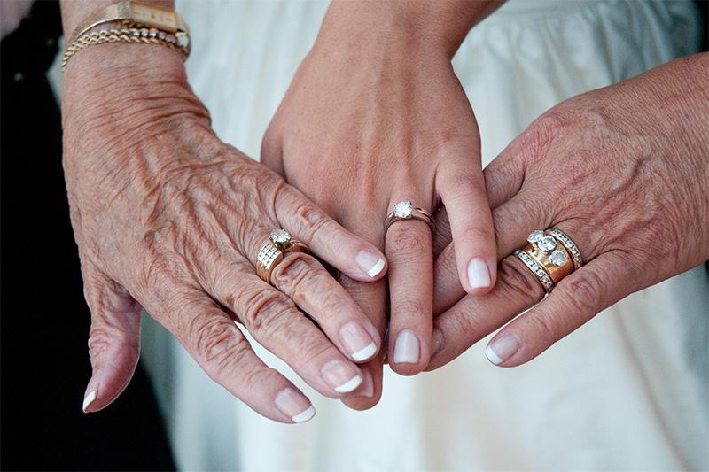 vestuvių fotografas pataria - trys kartos