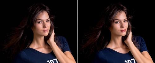 Portretinių nuotraukų retušas
